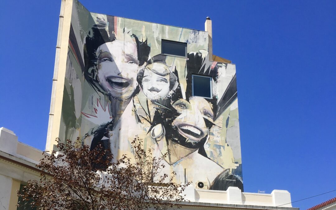 Graffiti in Athene in beeld
